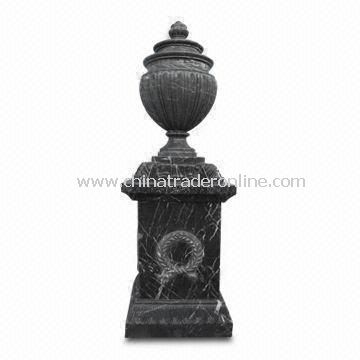 Stone Vases Urns with Polished Surface Finishing, Suitable for Garden Decoration