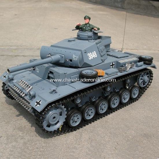 1:16 RC tank - PANZERKAMPFWAGEN III with smoking , sound and lights from China