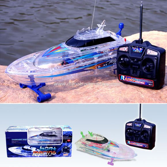 1:25 Scale RC Transparent Racing Boat from China