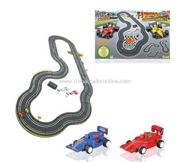 1:43 slot car with track