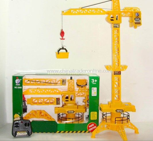 4ch rc rotating crane tower