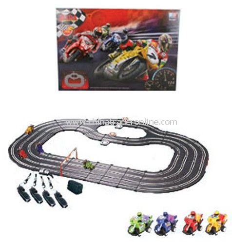 Four cars racing slot car