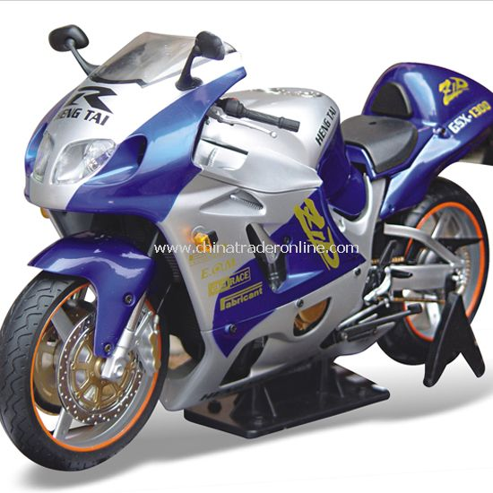 Motor Racing static model / Suzuki GSX1300 motorcycle full simulation