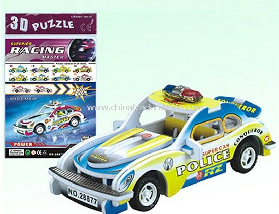 3D POLICE WAGON with PULL BACK DIY 8 STYLES