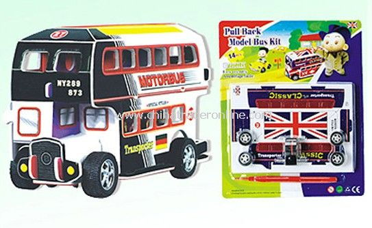 3D PUZZLE BUS PULL BACK 4 STYLES