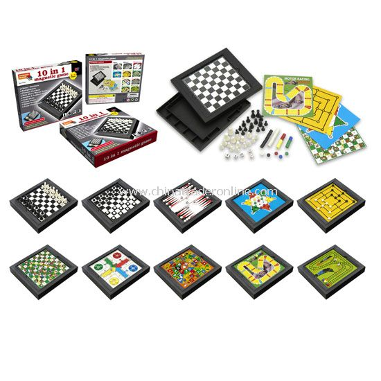 10 in 1 Magnetic Chess