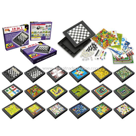 18 in 1 Magnetic Chess