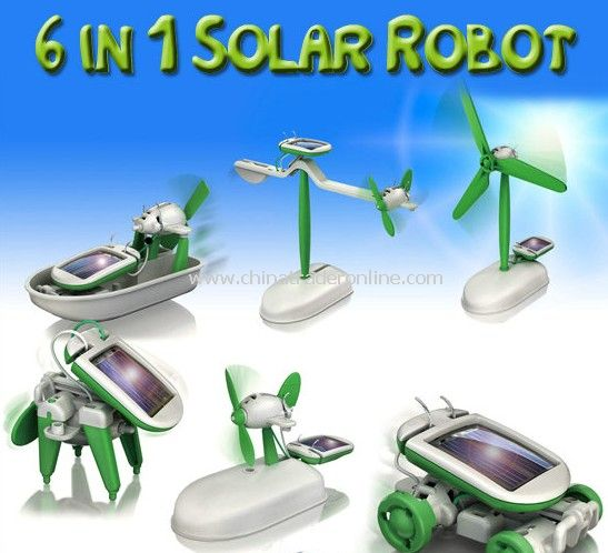 6 in 1 Solar Robot from China