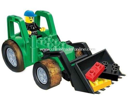 BULLDOZER toy bricks, building blocks