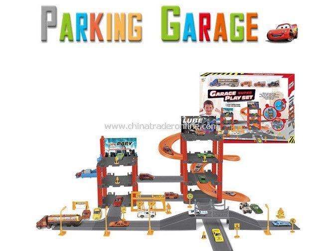 Car garage playset