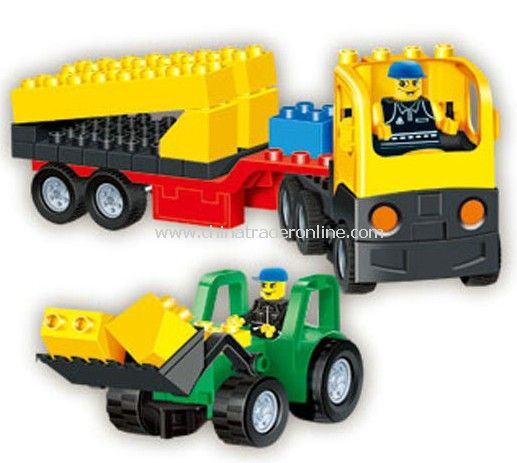 CONVEYANCE TRUCK toy bricks, building blocks