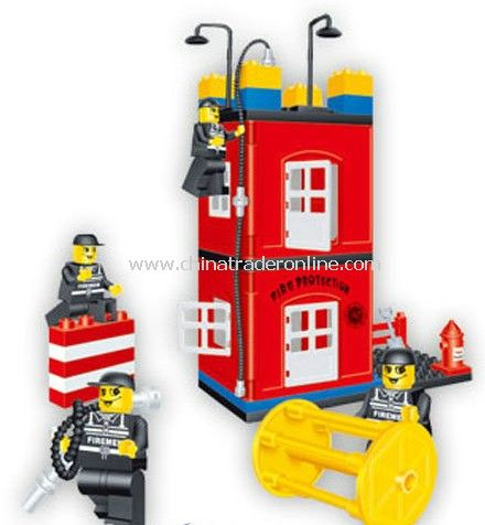 FIRE PROTATION - DRILLING SCENE toy bricks, building blocks