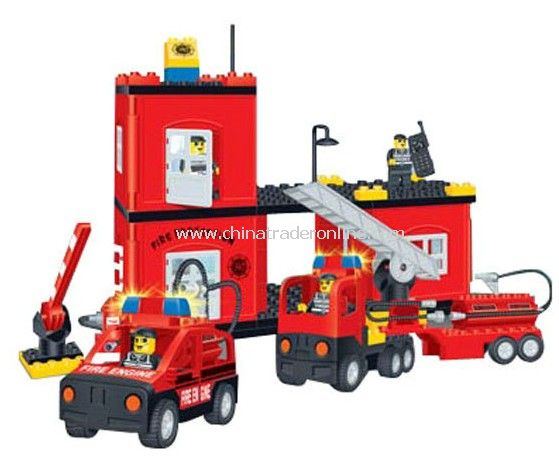 FIRE PROTATION HEADQUARTERS toy bricks, building blocks