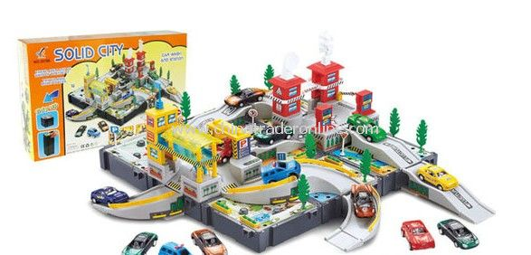 gas stations/washing field with 4 cars included