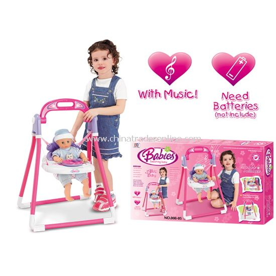 Music baby cradle