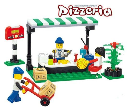 PIZZERIA toy bricks, building blocks from China