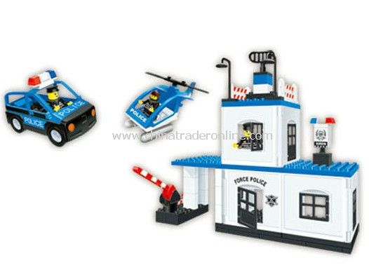 PLICE HEADQUARTERS toy bricks, building blocks