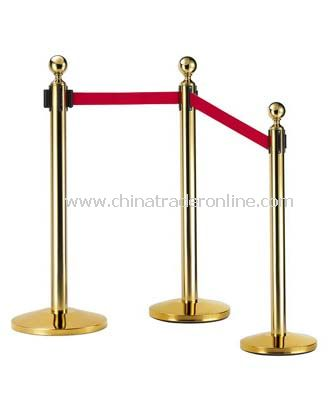 BALL TOP RETRACTABLE BELT STANCHIONS/DOME BASE