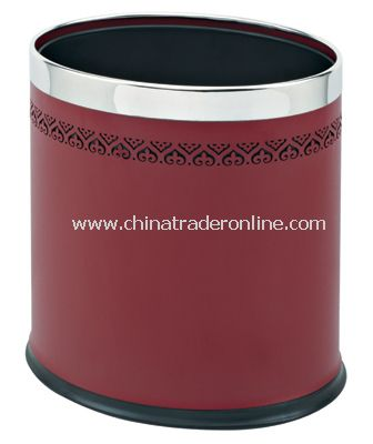 DOUBLE LAYER OVAL ROOM DUSTBIN WITH LACE