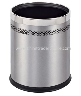 DOUBLE LAYER ROUND ROOM DUSTBIN WITH LACE