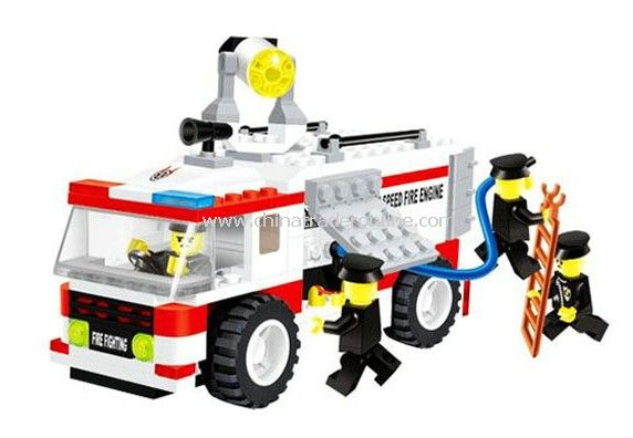 FIRE ENGINE toy bricks, building blocks
