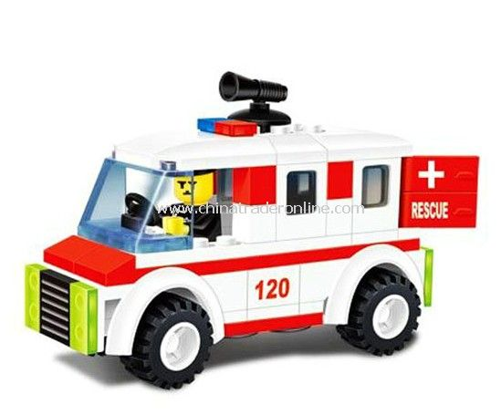 fire fighting car toy bricks, building blocks