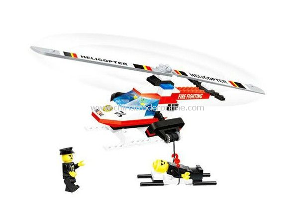 fire fighting HELICOPTER toy bricks, building blocks