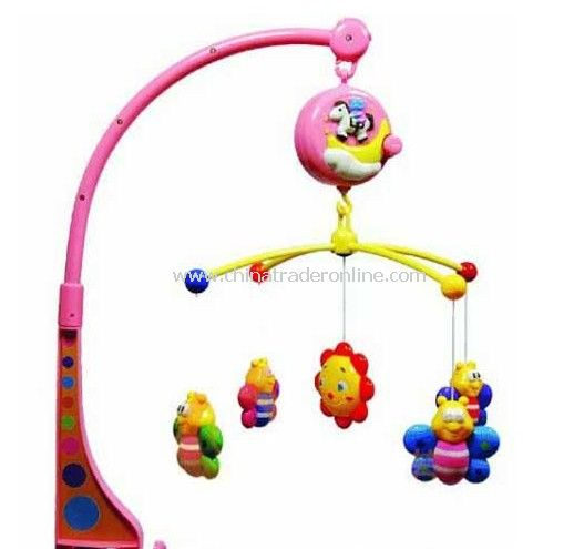Hanging music baby rotating toy with light