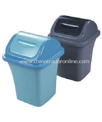 PLASTIC WASTE BIN WITH COVER