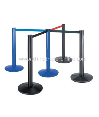 RETRACTABLE BELT STANCHIONS/DOME BASE
