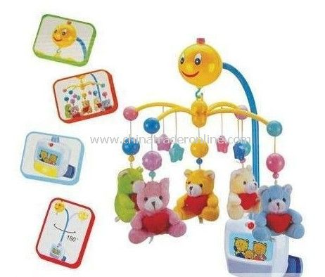 rotating bed hanging toy with music