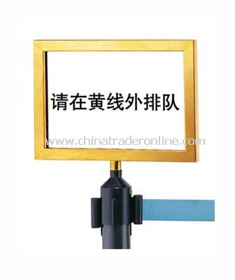 SIGN FRAME FOR RETRACTABLE BELT STANCHIONS