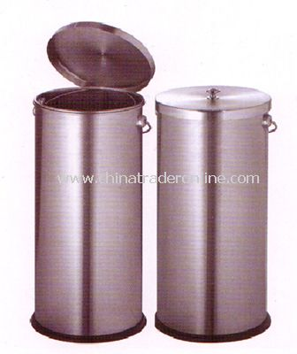 STIANLESS STEEL WASTE BIN WITH COVER