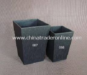 SYNTHETIC LEATHER DUSTBIN WITHOUT INNER BIN