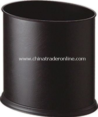 SYNTHETIC LEATHER SINGLE LAYER OVAL ROOM DUSTBIN