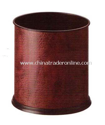 SYNTHETIC LEATHER SINGLE LAYER ROUND ROOM DUSTBIN