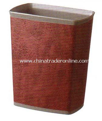 SYNTHETIC LEATHER SINGLE LAYER SQUARE DUSTBIN