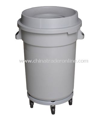 PLASTIC WHEELED  GARBAGE CAN