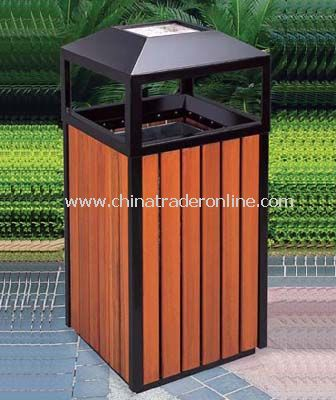 WOOD TRASH CAN from China