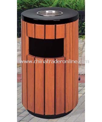 WOOD TRASH CAN
