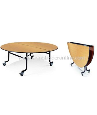 BANQUET  FOLDABLE MOBILE TABLE  WITH 4 WHEELS