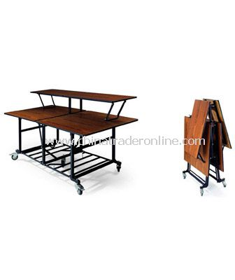 BANQUET BUFFET FOLDABLE TABLE  WITH 4 WHEELS
