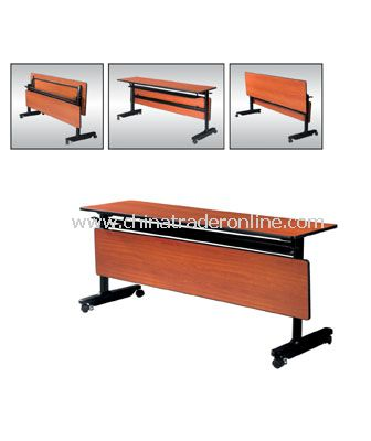 BANQUET FOLDABLE RECTANGULAR TABLE WITH ADAPTABLE PANEL from China