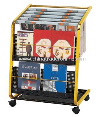 NEWSPAPER  AND MAGAZINE RACK