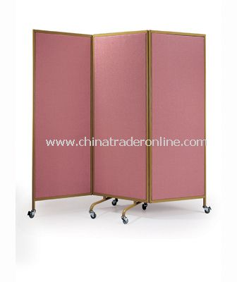 TRI-FOLD PARTITION WITH 50MM WHEELS