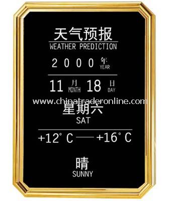 WEATHER FORECAST BOARD