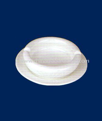 4  WHITE PORCELAIN ASHTRAY