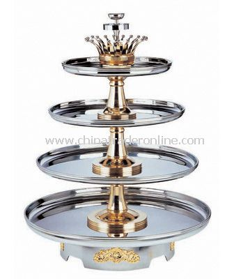 4-TIERS BUFFET REVOLVING STAND