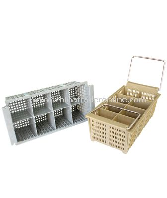 8-COMPARTMENT CUTLERY BASKET WITH  HANDLE