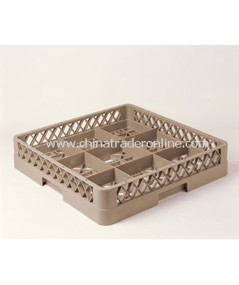 9 COMPARTMENT GLASS RACK